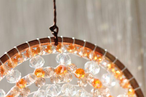 曼荼羅サンキャッチャーオレンジの光