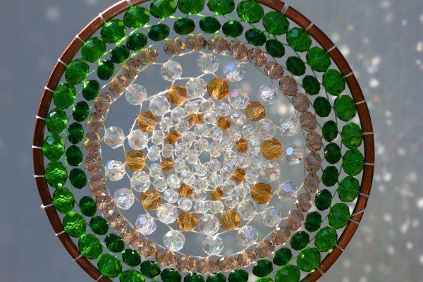 曼荼羅サンキャッチャー森の光カラー