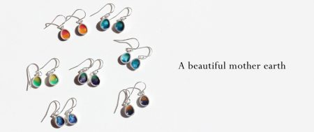 A beautiful mother earth 七宝焼 ピアス
