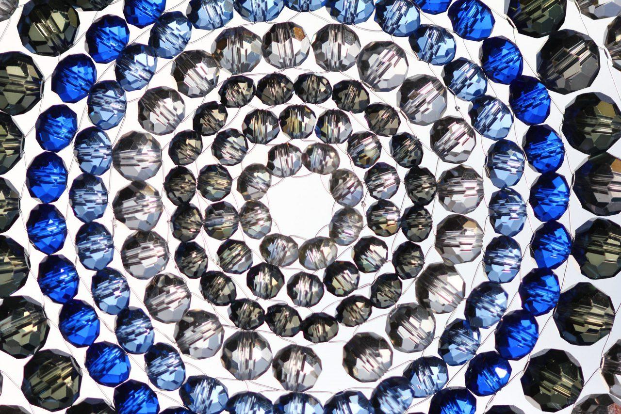 ブルーの曼荼羅サンキャッチャー